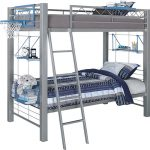 Build Bunk Gray Twin Bed Loft Beds