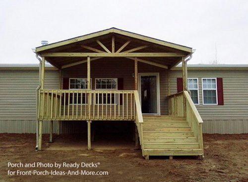Building Small Porch Mobile Home Design