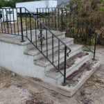 Concrete Deck Front Door Steps Metal Railings Winona Manufactured
