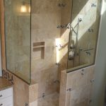 Doorless Walk Shower Small Bathroom Joy Studio Design