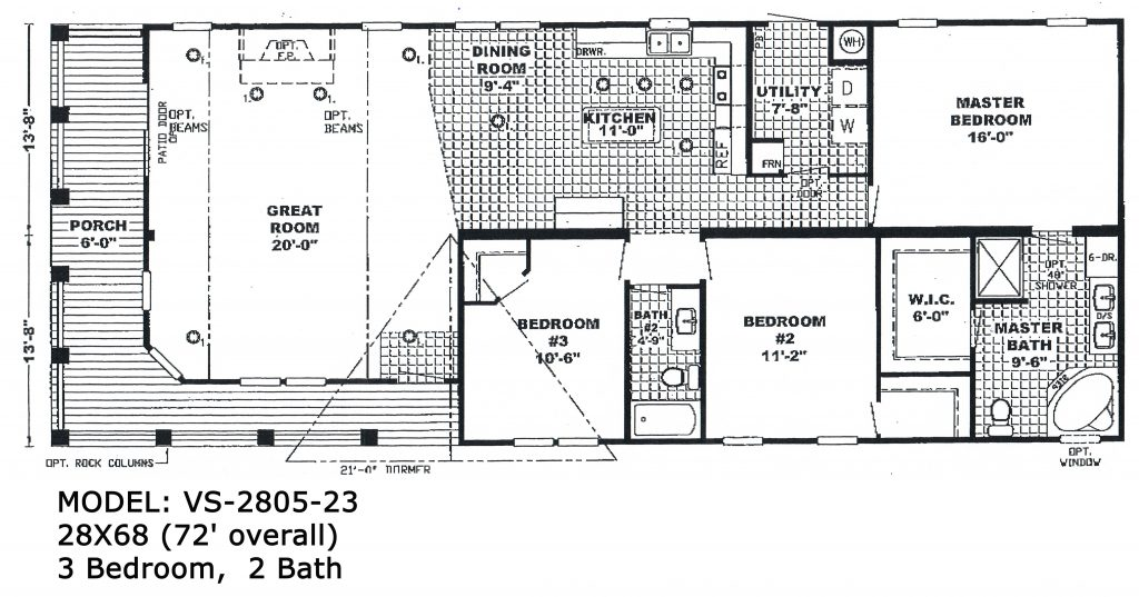 Double Wide Floorplans Mccants Mobile