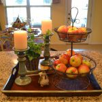Fabulous Kitchen Table Centerpieces Presented Bright Color Simple