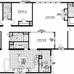 Four Bedroom Mobile S Floor Plans Inside Double Wide