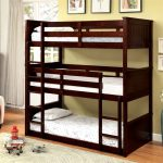 Furniture America Dorian Twin Triple Decker Bunk Bed Espresso