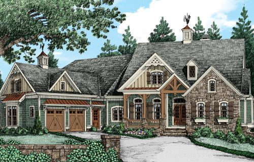 Home Plan Grand English Cottage