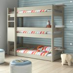 Kids Bedroom Tier Triple Bunk Bed Bunkbed Modern Beds Other Metro