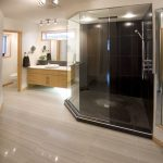 Large Walk Shower Contemporary Bathroom Other Metro