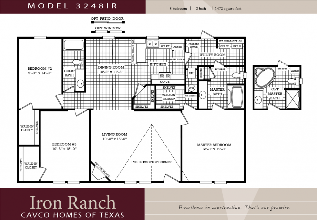 Lovely Mobile Home Plans Double Wide Bedroom Bath Floor