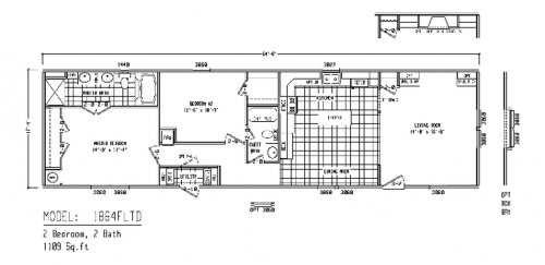 Mobile Homes Floor Plans Single
