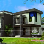 Modern Flat Roof House Bhk Kerala Home Design Floor Wondrous Designs