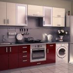 Modular Kitchen Cabinets Customized Laundry Machine