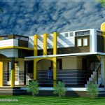 New Style House Design Front Elevation Drawing