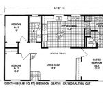 Nice Mobile Home Plans Double Wide Floor
