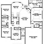 One Story Bedroom Bath Traditional Style House Plan Plans