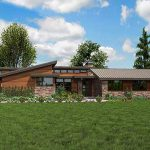 Plan Stunning Contemporary Ranch Home Architectural