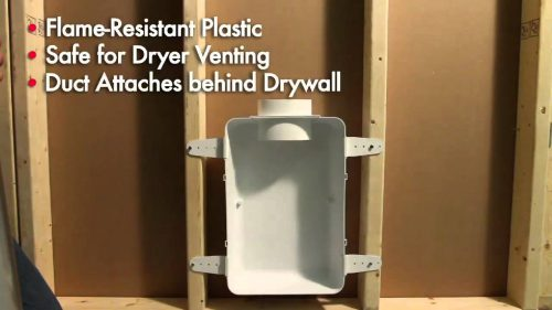 Recessed Dryer Vent Box Engine User