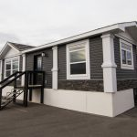Rustic Manufactured Home Triple Housing Exterior