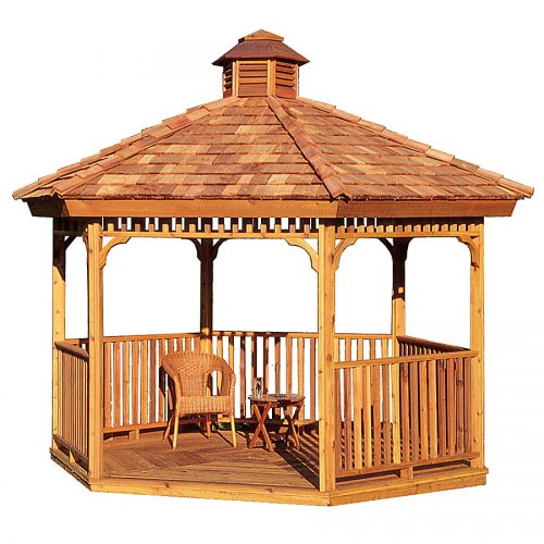 Shop Cedarshed Cedar Hexagon Gazebo Exterior
