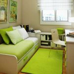 Small Home Office Guest Room Ideas Green Bed Carpet Interior