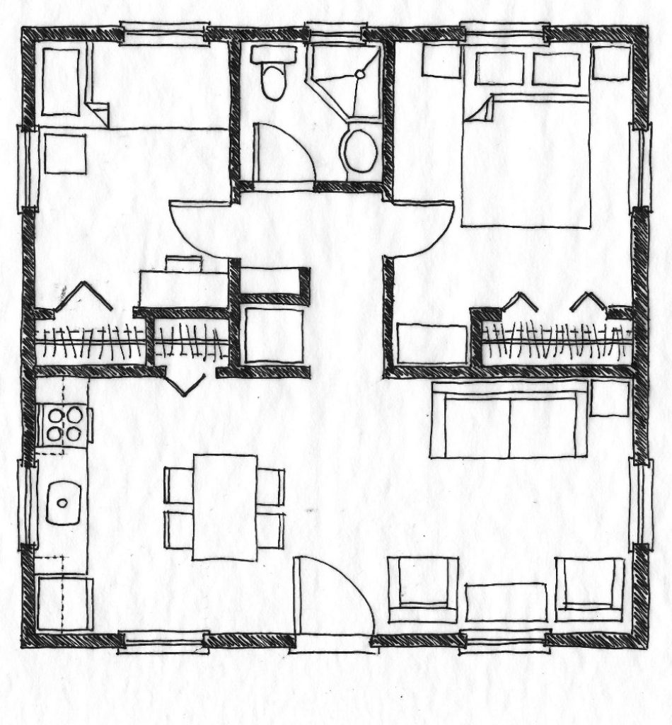 Small Residential Building Plan Modern House Inside Plans