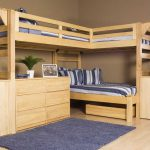 Triple Bunk Bed Plans Natural Brown Wooden Frames Home Interior