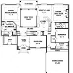 Two Story Bedroom Bath French Style House Plan Plans Floor